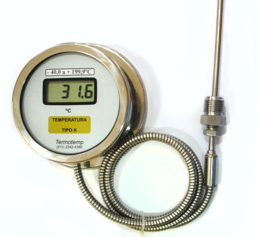 Termômetro digital industrial a capilar